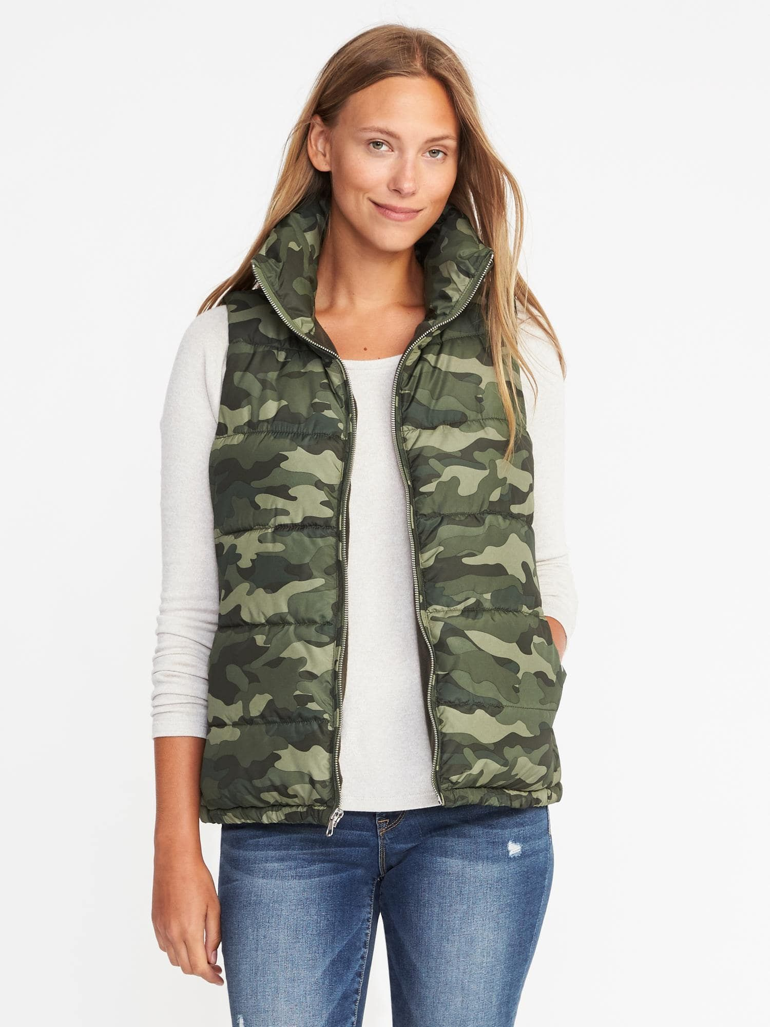 1183b29378243 Size small. Old navy camo vest