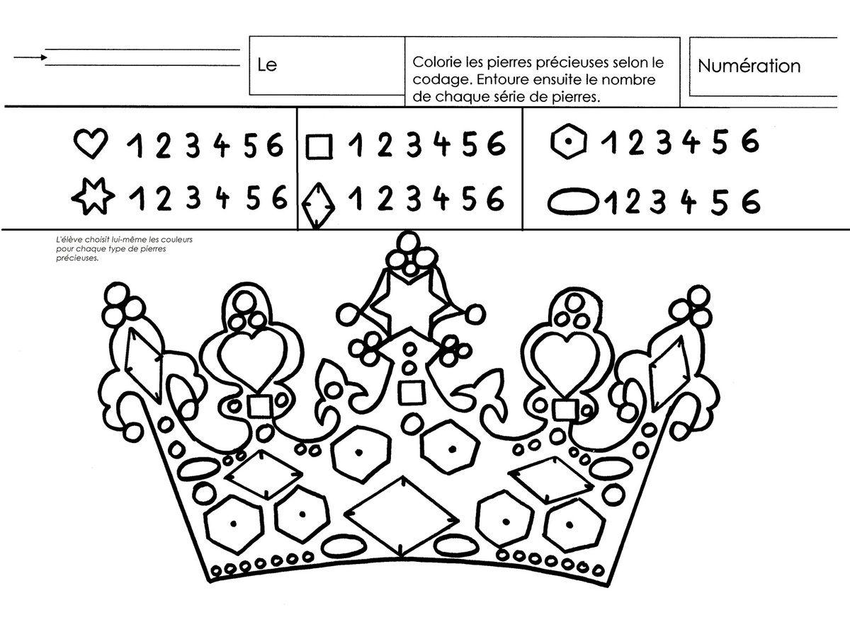 Les rois quantit s 6 galette des rois princess et prince - Couronne des rois a colorier ...