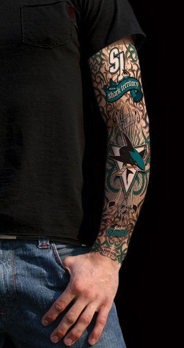 I M Sharks Crazy I Love This Amazon Com San Jose Sharks Fanink Spirit Tattoo Sleeve Size One Size Sports Outdoors Sleeve Tattoos Spirit Tattoo Tattoos
