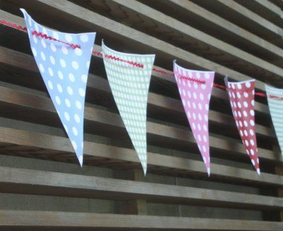 Printable bunting: print, cut out, string on rick rack. No sewing required.
