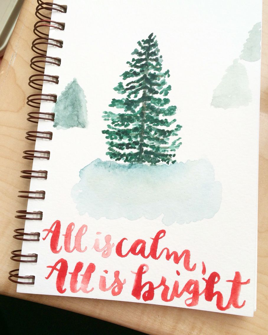 silent night • Watercolor Print