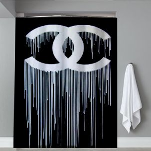 Chanel Drip Shower Curtain