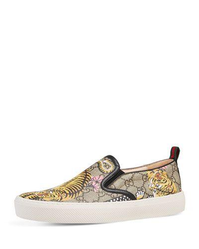 fcc773b90fbf Dublin Bengal-Print Skate Sneaker Tan   *Neiman Marcus*   Sneakers ...