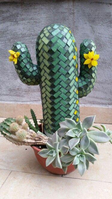 Cactus en venecitas  Mosaics  Mosaicos Mosaiquismo
