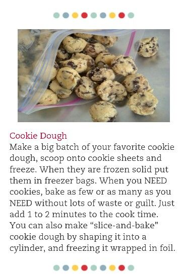 Freeze Homemade Cookie Dough Dog Food Recipes Homemade Cookie