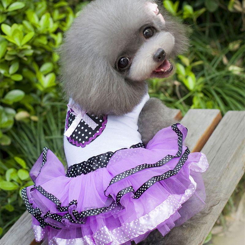 Cat Dog Pet Tutu vestido de princesa roupas para cães coração ...