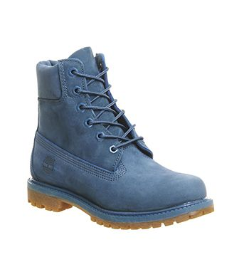 Timberland Premium 6 Womens Ankle Boots Blue Ink Nubuck