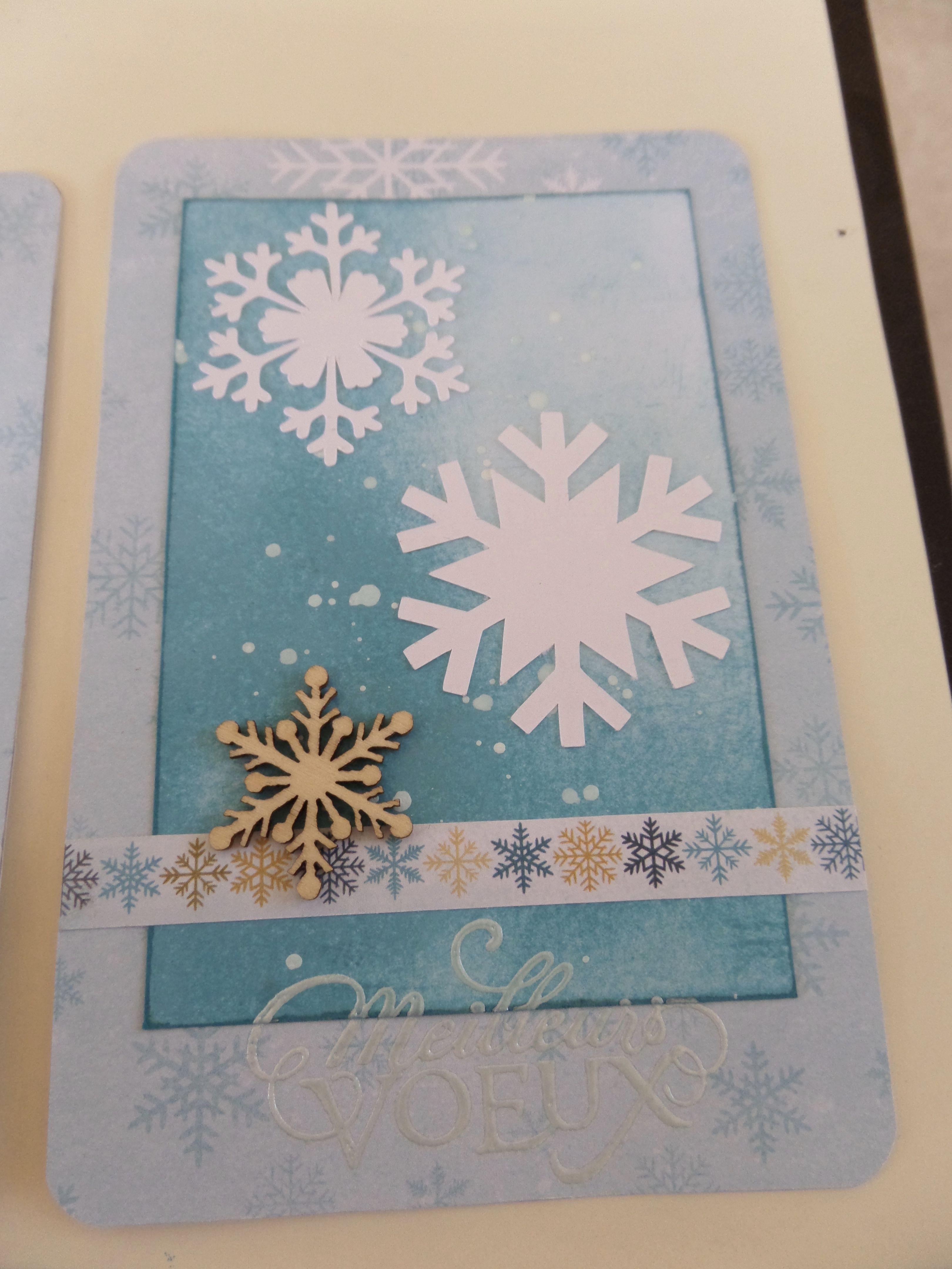 Carte de vœux #christmas #noel #boule #magic #believe #blue #star