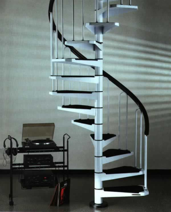 Best The Petite Af26 Mini Spiral Staircase 1M Diameter Stair Ebay 640 x 480