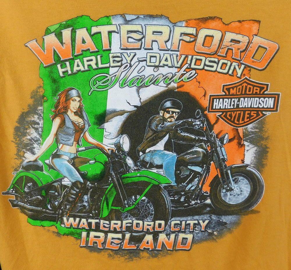 Waterford Harley Davidson Slainte WATERFOD City Ireland Graphic Tee