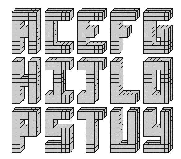 Tecnologia 1º E S O Letras En 3d Imagenes De Letras Letras En 3d Tipos De Letras Abecedario