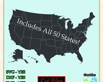 United states map states cut file vector svg dxf png cricut united states map states cut file vector svg dxf png cricut silhouette vinyl vector decal file gumiabroncs Choice Image