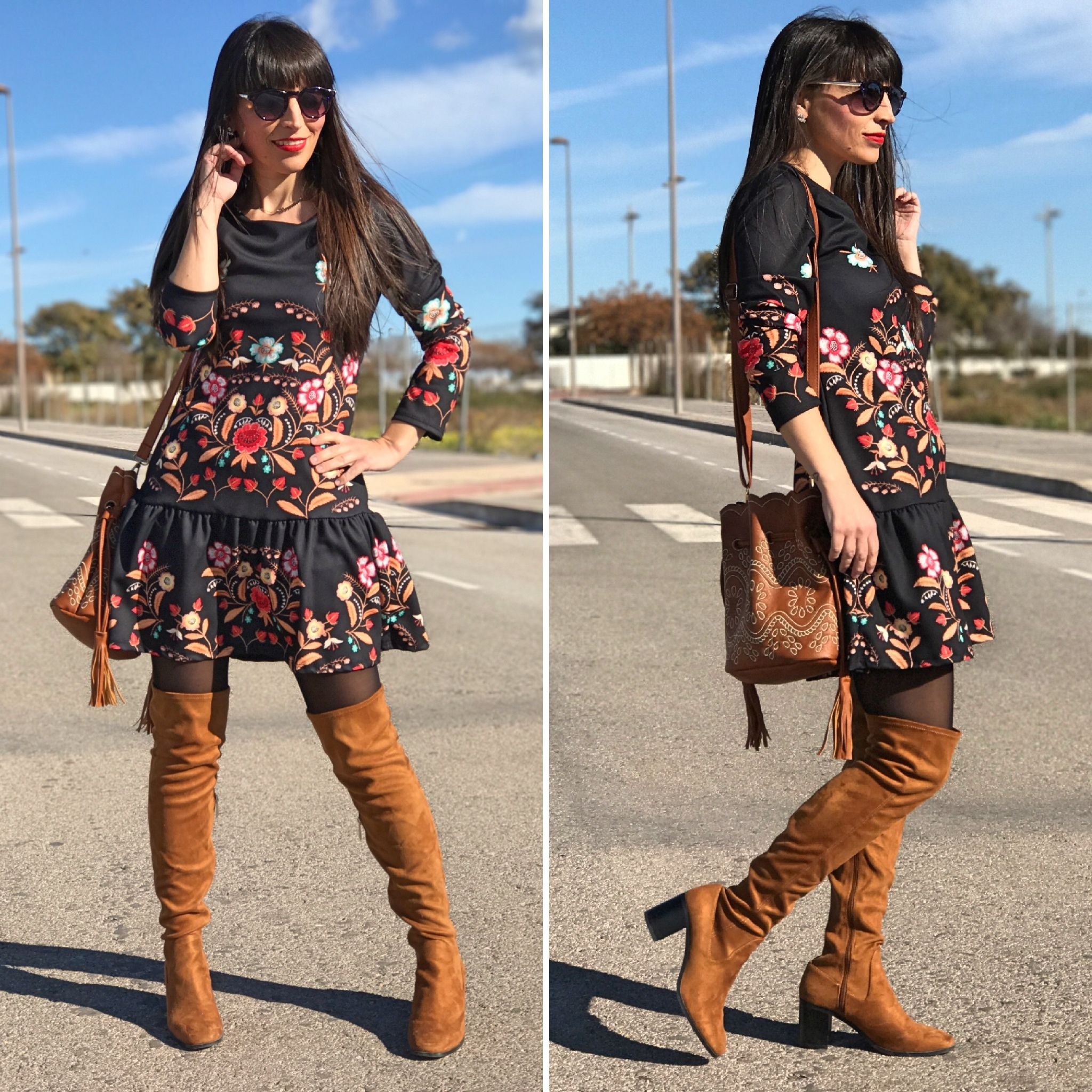vestido floral - Temporada: Primavera-Verano - Tags: look, ootd, fasion, moda, blogger, streetstyle - Descripción: vestido neopreno floral, tendencia de temporada #FashionOlé