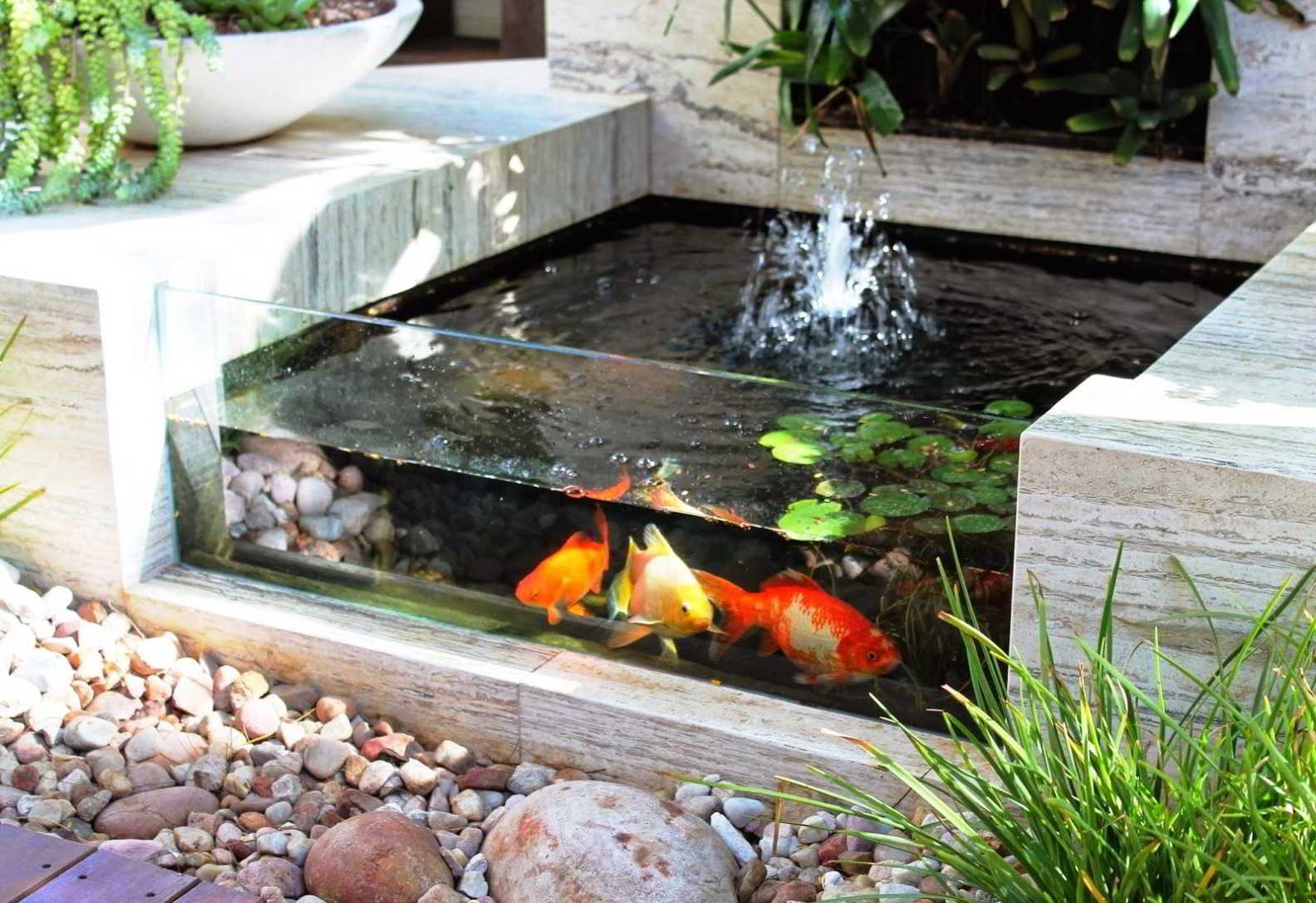 Taman Minimalis Cantik Dengan Kolam Ikan Ides Kolam Ikan