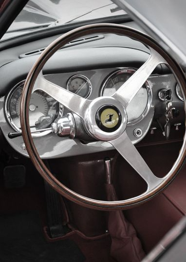Ferrari dashboard- I don't even care if it drove like a tractor! The look, sound and smell of a vintage Ferrari can't be topped.