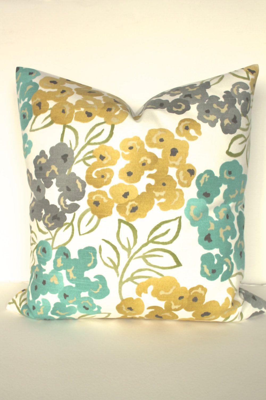 Turquoise Pillows Teal Decorative Pillow Covers Gray Pillows Etsy Turquoise Pillows Teal Pillows Decorative Yellow Throw Pillows