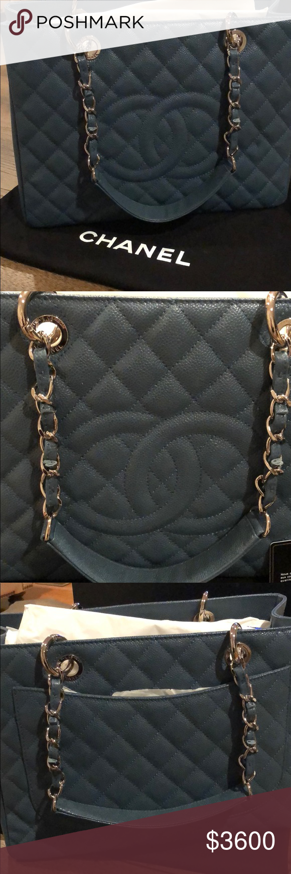 b11ba9c5ff53 Chanel Grand Shopper Tote GST brand new with tags Brand new Chanel grand  shopping tote bag in blue caviar leather. It measures 13 inches in length  10 inches ...