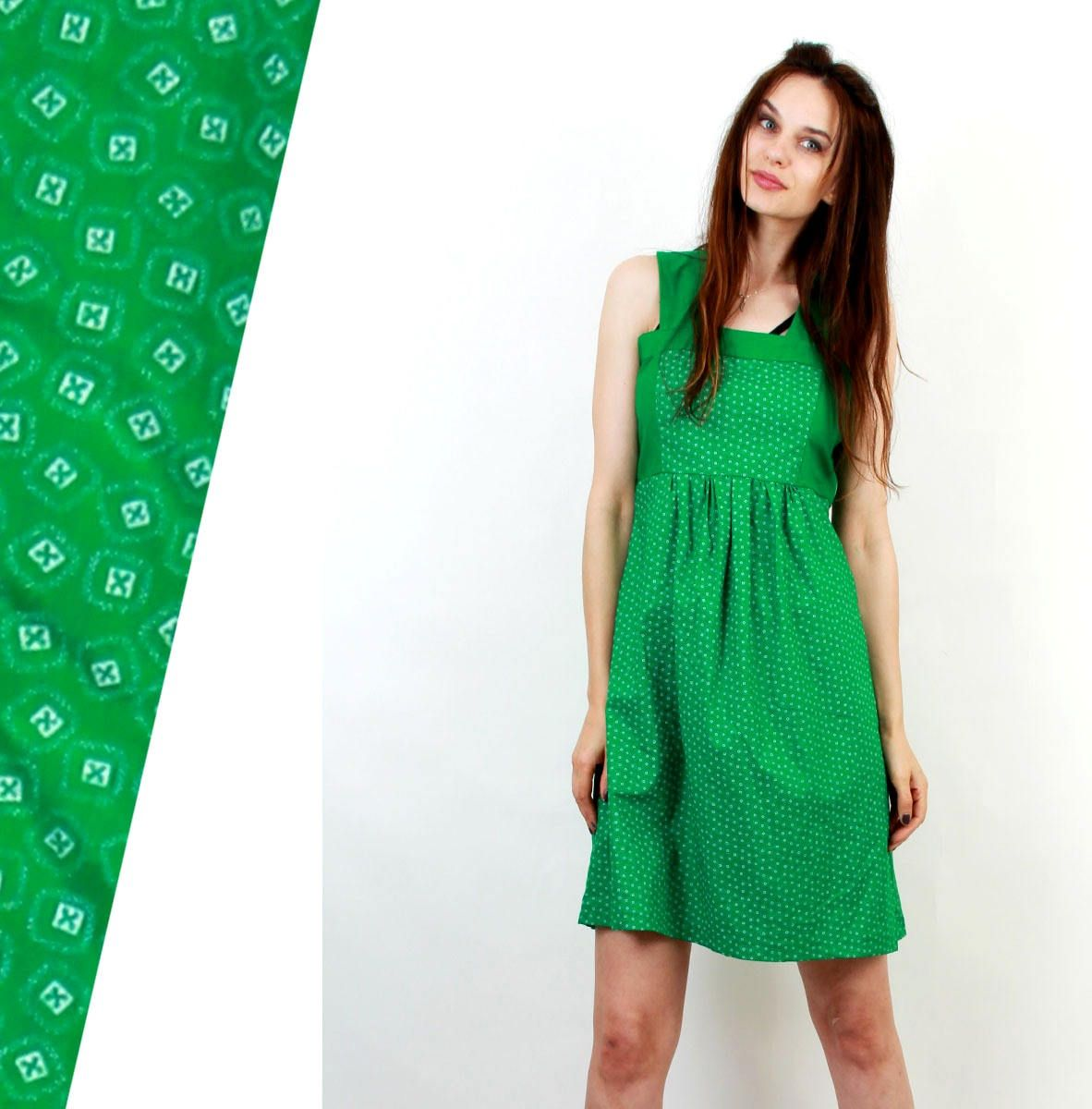Trachten Green Dress / Trachten Dress / Dirndl Dress / Vintage Green Dress / Cotton Dress / Folk Dress / Medium Size Dress / by Ramaci on Etsy