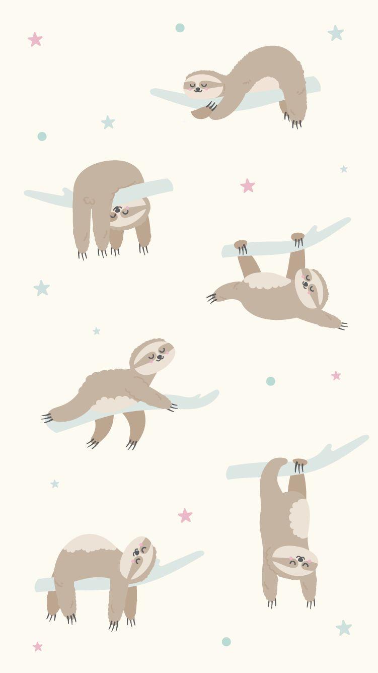 Sloth Wallpaper 2 Cartoon Wallpaper Cute Cartoon Wallpapers Sloth