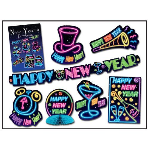 New Year Decorama Party Accessory (1 count) (7/Pkg ...
