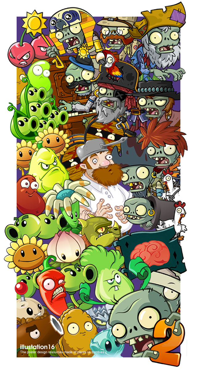Plants vs Zombies 2 POSTER by illustation16 | Fave Games in