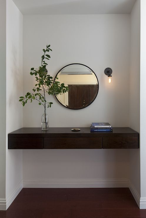 Contemporary Foyer Table And Mirror : Floating console table contemporary entrance foyer