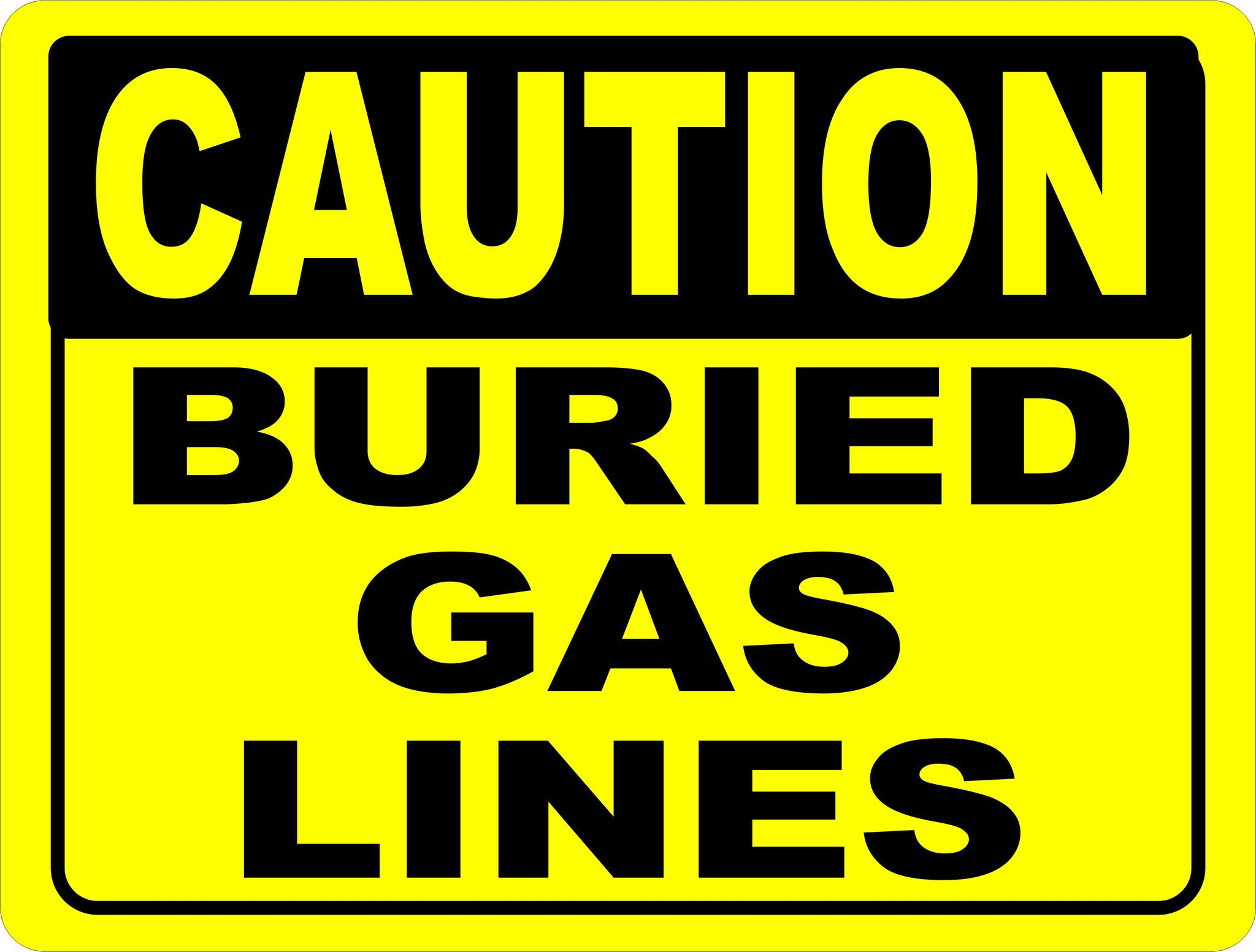 Great deals Caution Buried Ga...  http://salagraphics.com/products/caution-buried-gas-lines-sign?utm_campaign=social_autopilot&utm_source=pin&utm_medium=pin Signs Decal and More at Sala Graphics, Inc.