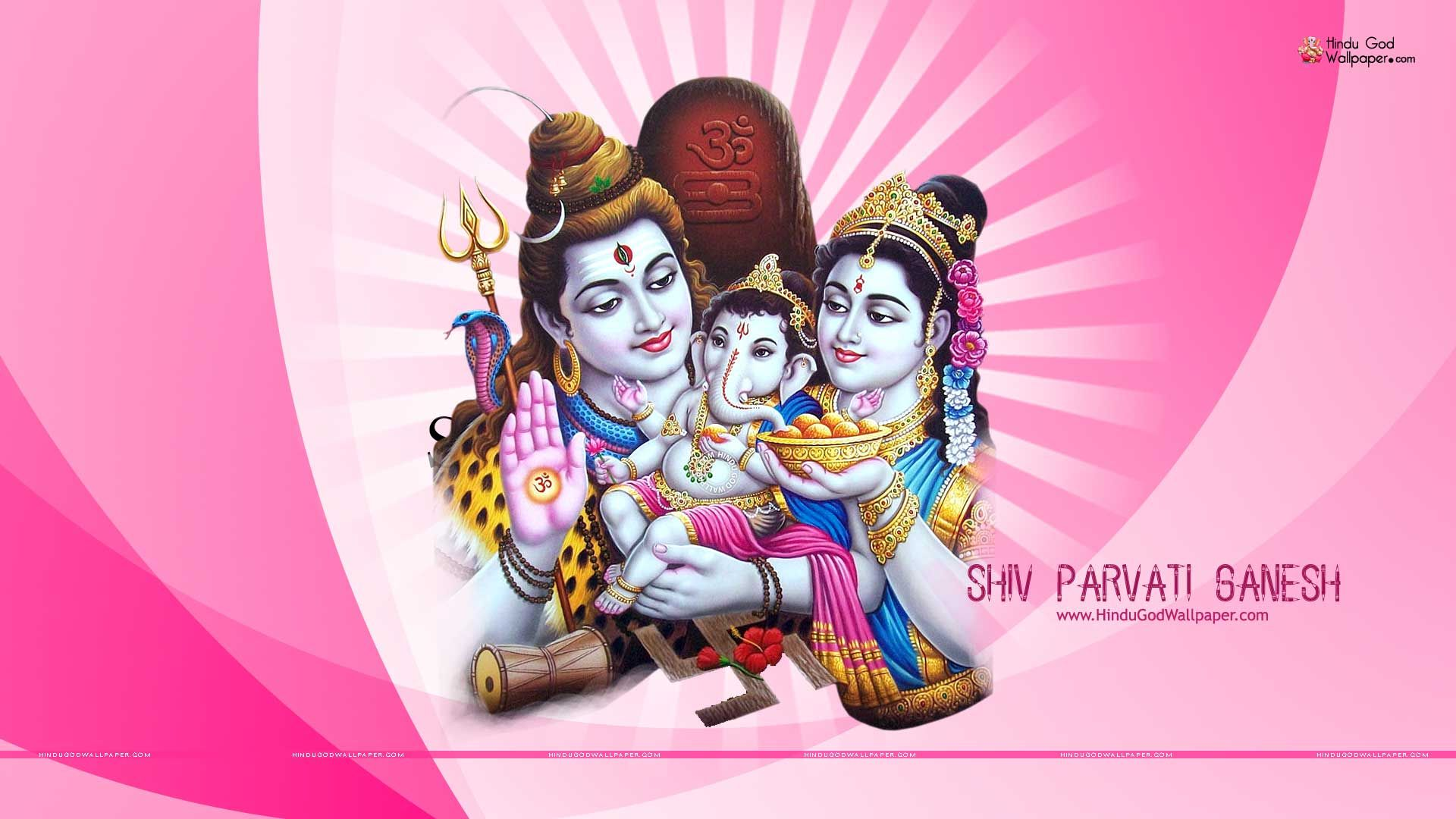 shiv parvati ganesh hd wallpaper SHIV SHAKTHI Pinterest