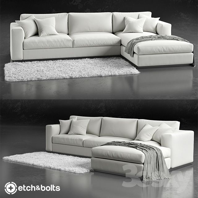 Enjoyable 3D Models Sofa Etchbolts Eudora L Shaped Sofa Living Machost Co Dining Chair Design Ideas Machostcouk