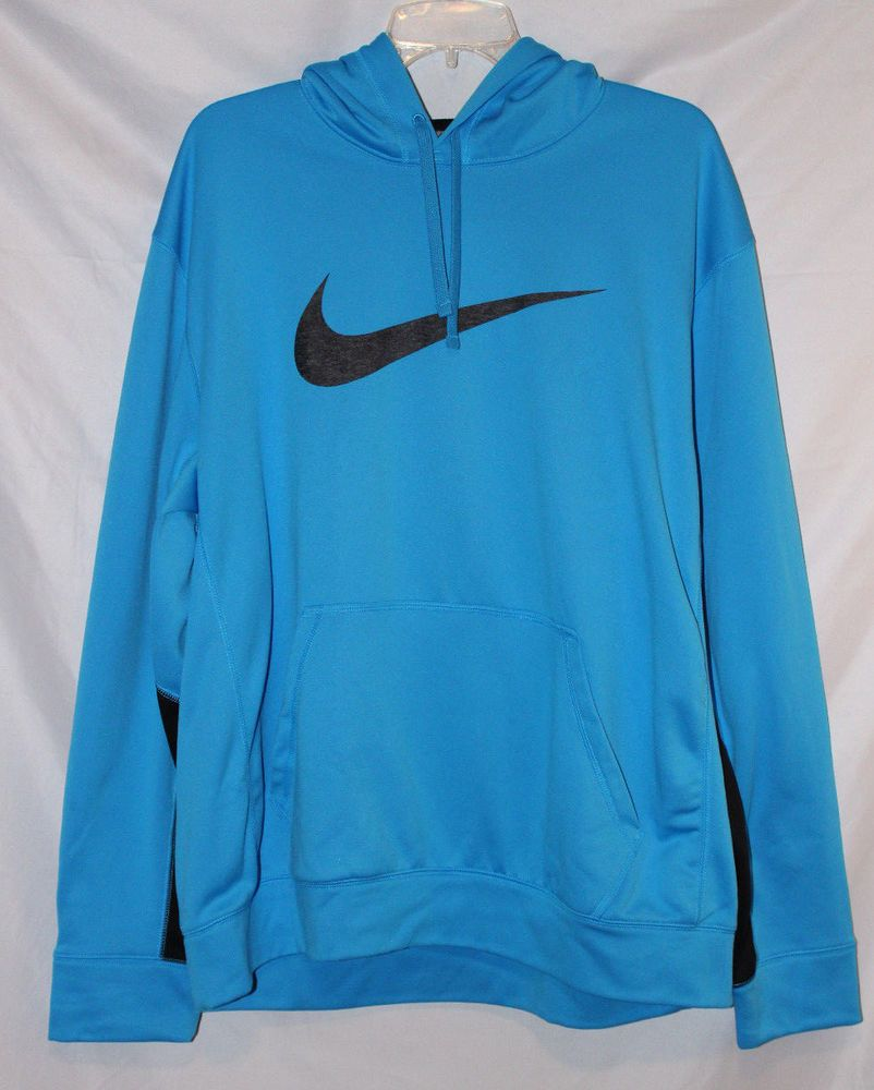 Nike Swoosh Logo Therma Fit Men S Size Xl Bright Blue With Black Pullover Hoodie Fashion Clothing Sh Black Pullover Hoodie Black Hoodie Men Nike Swoosh Logo [ 1000 x 802 Pixel ]