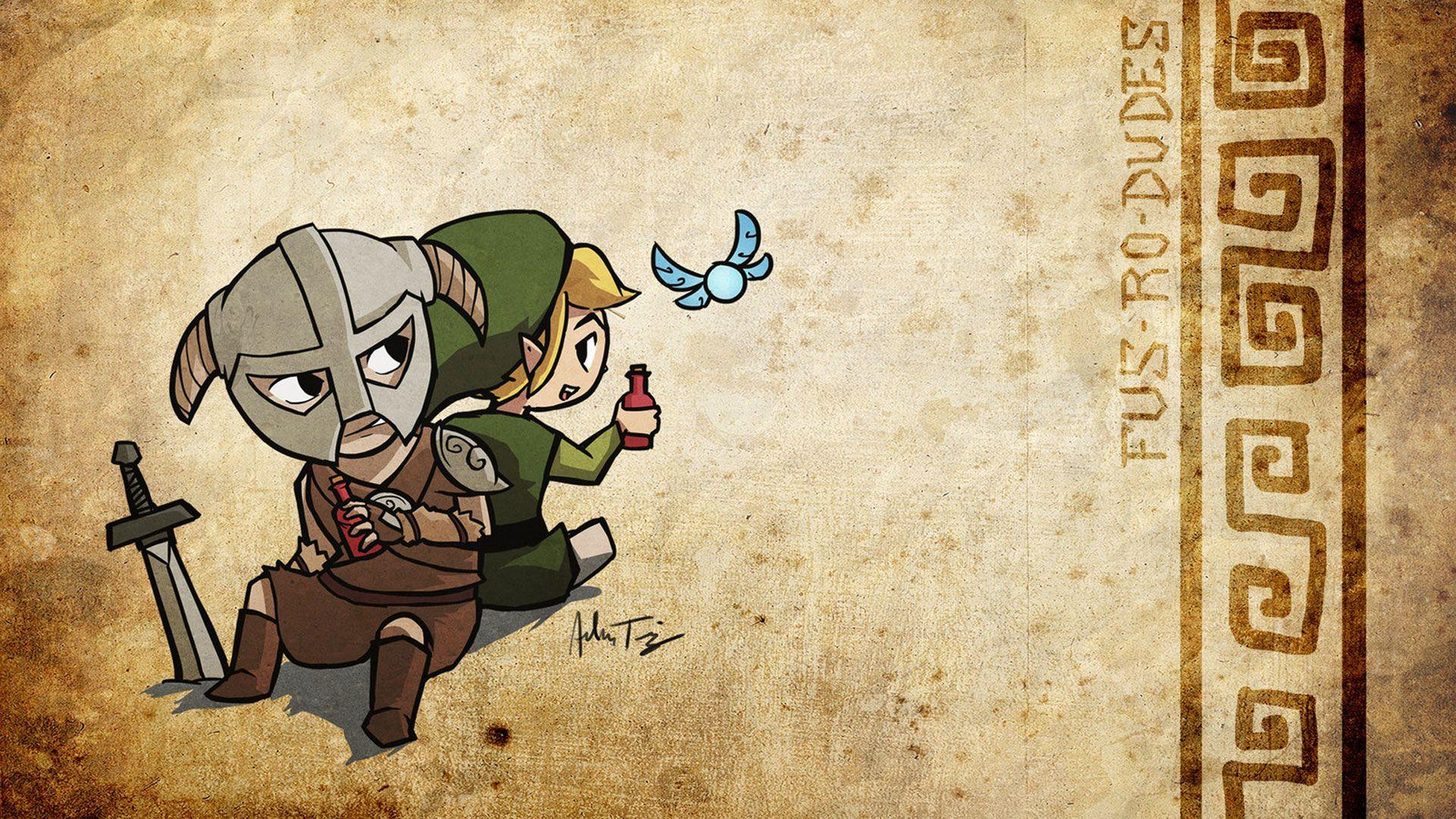 Cool Skyrim/Zelda mash up Wall Paper | Video Game Shrine | Pinterest ...