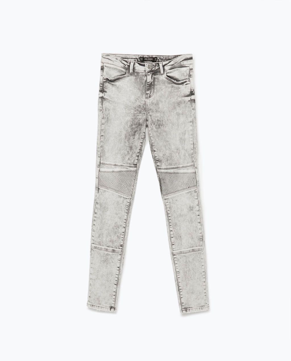 408c44c82a BIKER TROUSERS - Jeans - WOMAN | ZARA Czech Republic | ¸Z.A.R.A. ...