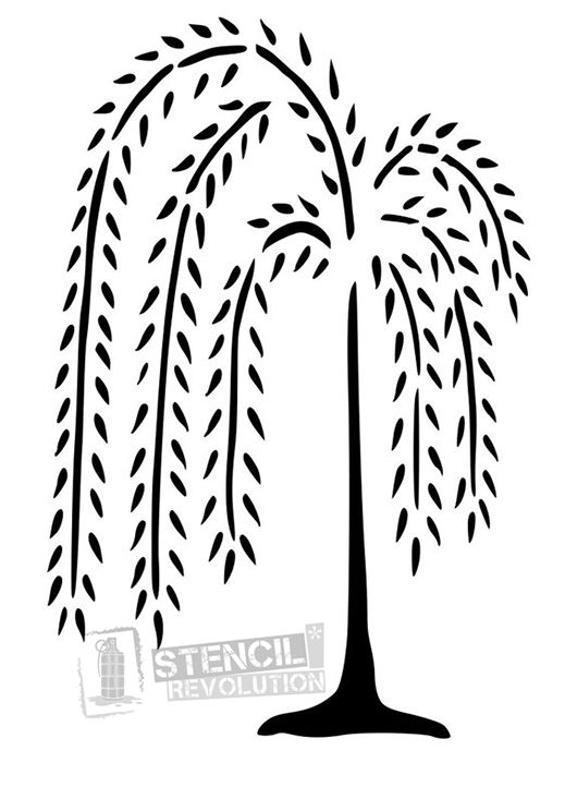 Willow Tree Stencil for Crafts  Walls