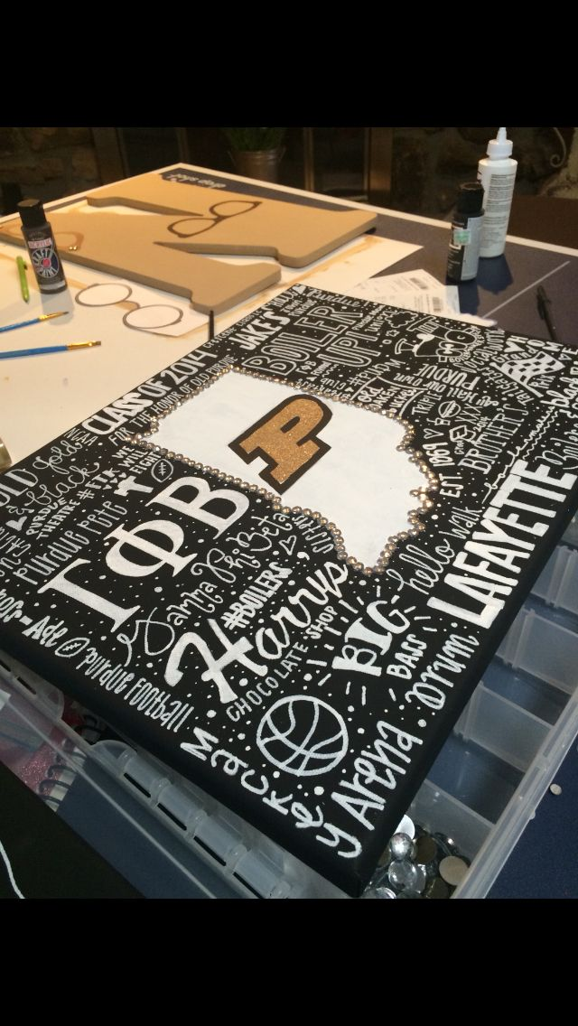 Purdue Canvas By Kinsey Reese Sorority Crafts College Gifts Sorority Gifts