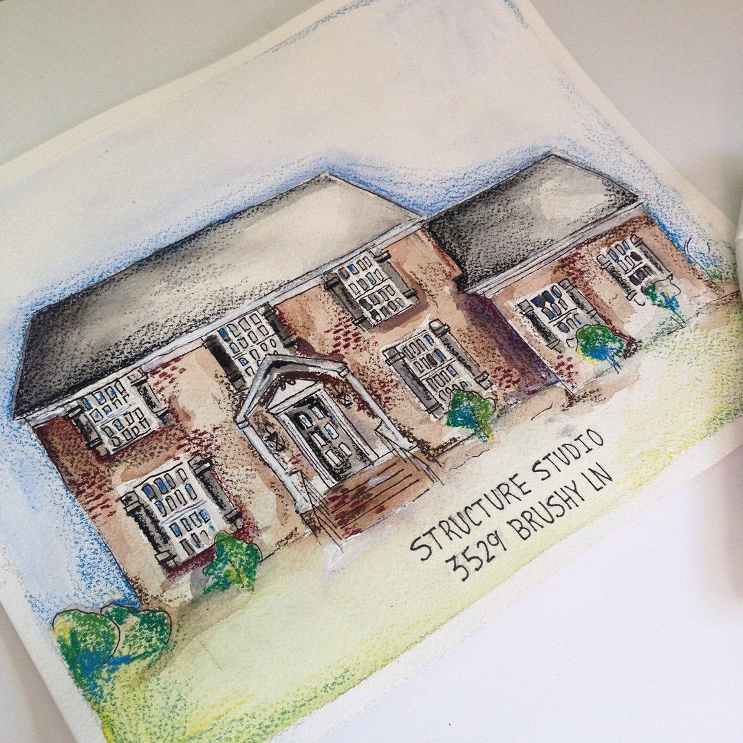 Watercolor Home Portraits By Lauren Dahl To order: DahlHouseInterior... Follow Along: Instagram.com/DahlHouseInteriors Learn More: DahlHouseInterior... _________________________________ Home Portrait, House Drawing, New House, Newly Wed Gift, Real Estate, Exterior Design, Watercolors, Design Clients