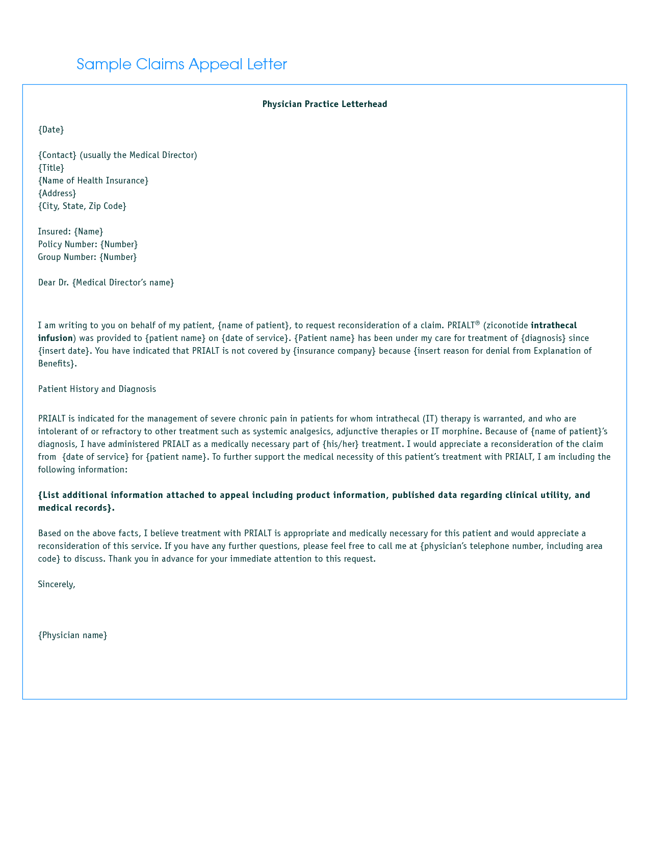 Letter Appeal And Health Insurance Letters Sample Sawyoo Medical