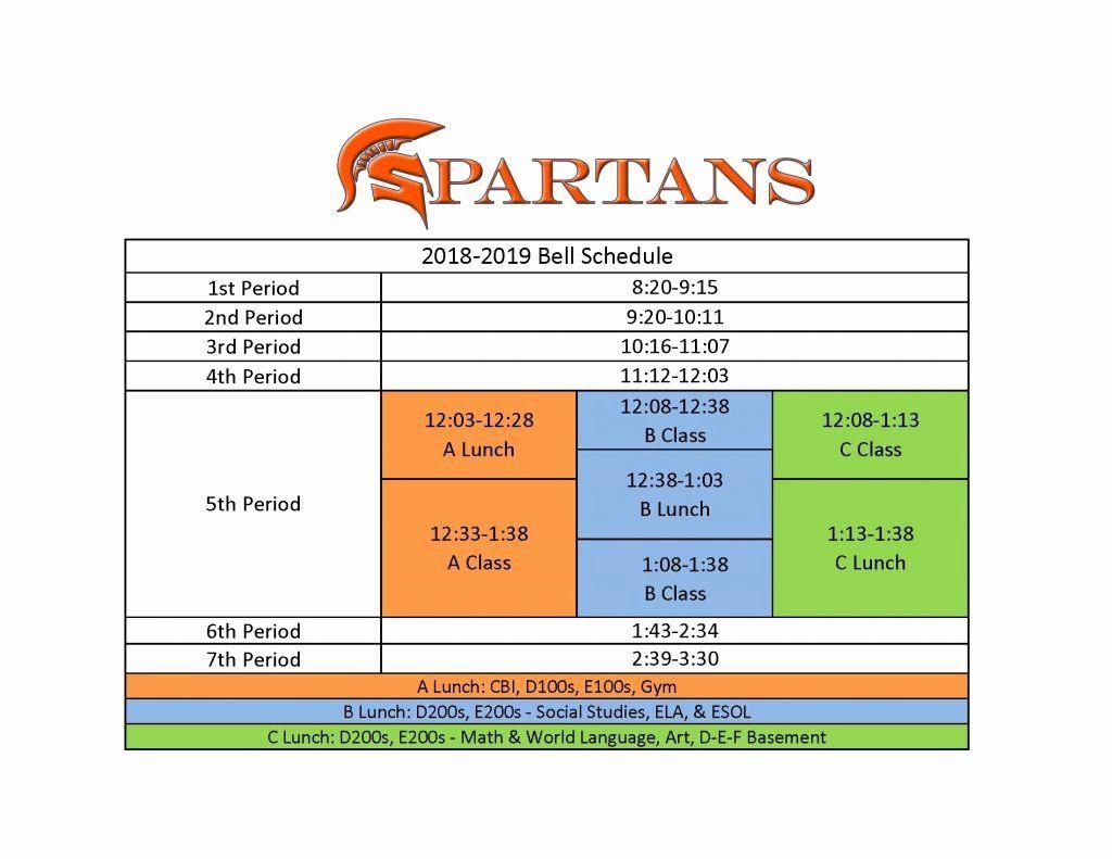 Middle School Schedule Template Luxury Sandy Springs