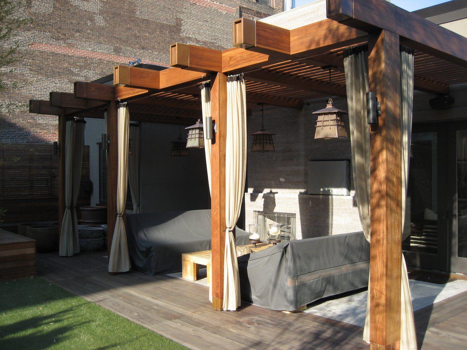 Copper Beam Caps Citybeautifulcarpentrycom Penthouse Gardenmodern Pergolaoutdoor