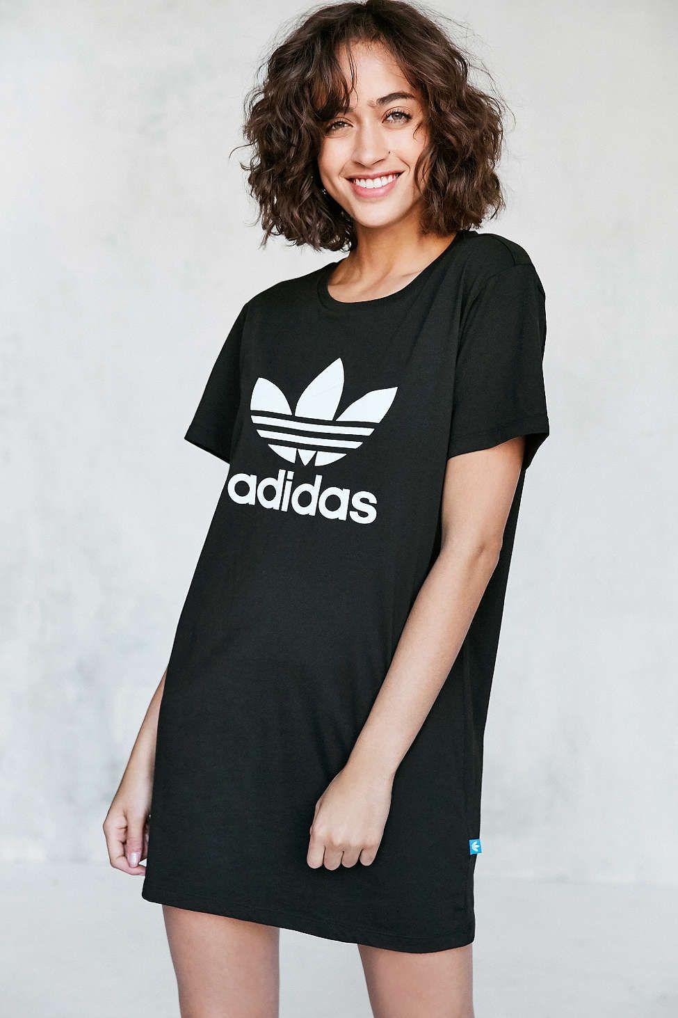 d02608112b5c adidas Originals Trefoil Oversized T-Shirt Mini Dress