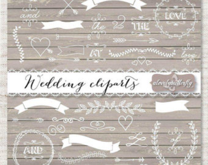 Hochzeit Laurel Clipart, Hochzeit Einladung Digital, Kranz Clipart,  Digital, Holz Laurel Clipart