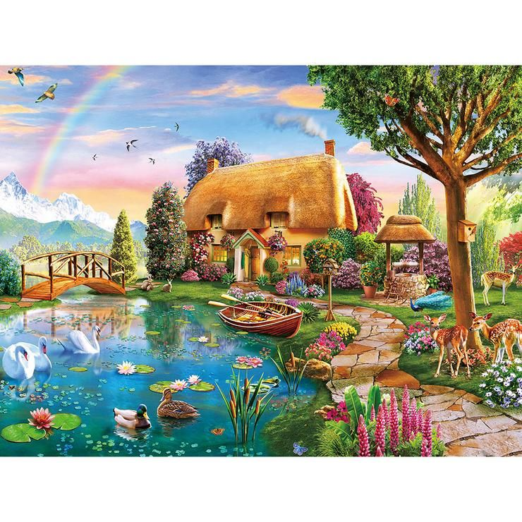 5D Diamond Painting by Number Kits DIY Cross Stitch Pictures Arts,Village Farm !