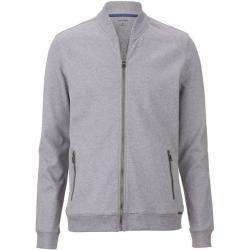 Photo of Olymp Sweat sweat jacket, modern fit, silver gray, Xxl Olymp