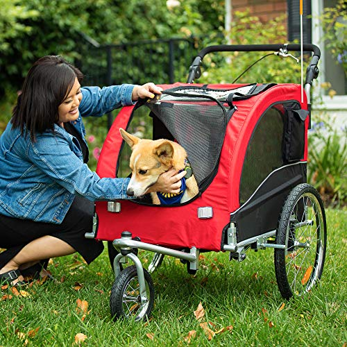 Best Choice Products 2in1 Pet Stroller and Trailer Pet