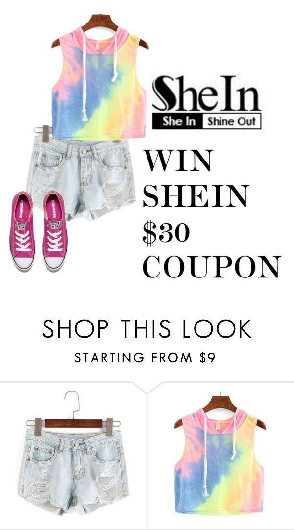 """WIN SHEIN 30$ COUPON"" by barbara-996 ❤ liked on Polyvore featuring Converse"