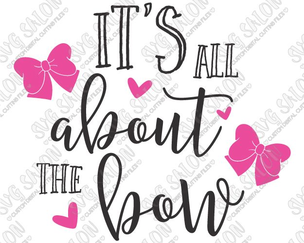 Its All About The Bow Cute Custom DIY Iron On Vinyl Baby Onesie - Custom vinyl decals cutter for shirts