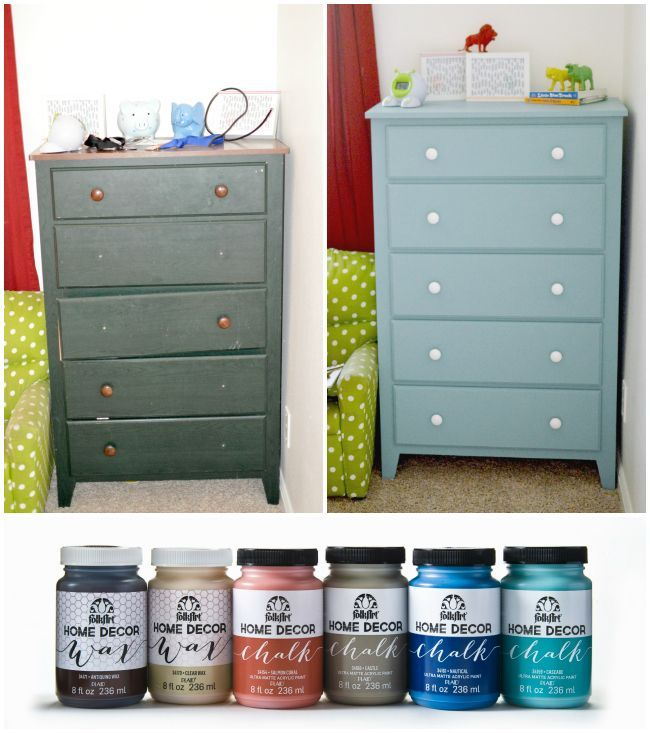 Decor Hacks : Refinishing A Kids Dresser Using Folkart® Home Decor