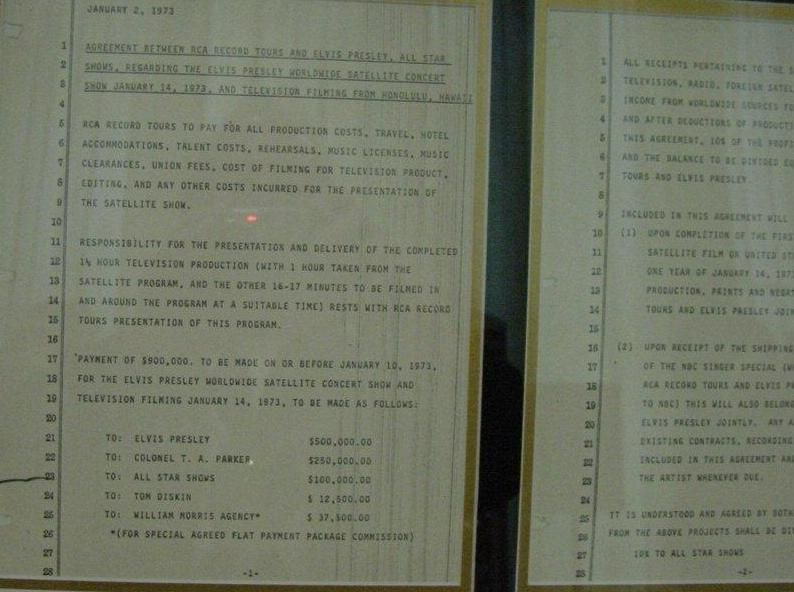 Agreement Between Rca And Elvis Presley And The All Star Shows For
