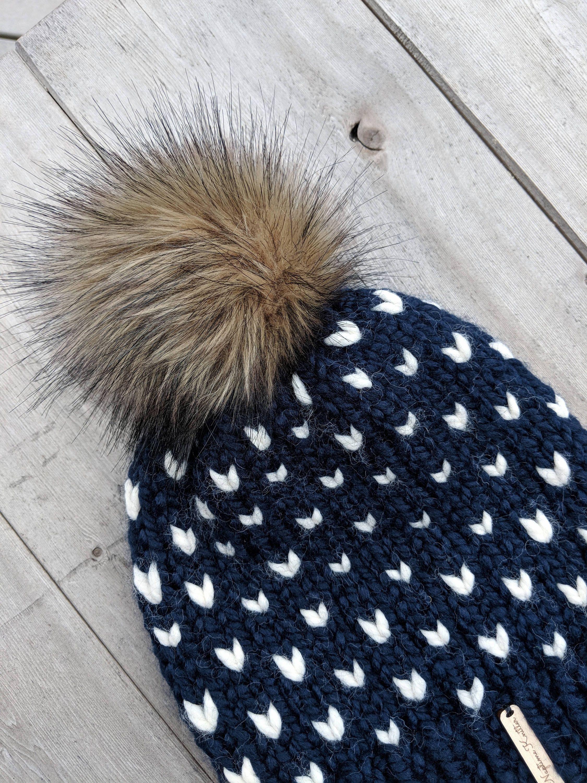 68d6f22d15a Women s hat beanie faux fur pom pom