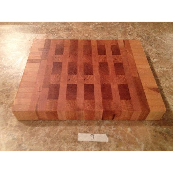 Handmade Ash, Maple, Red Oak Hardwood End Grain Cutting Board, Large... (€70) ❤ liked on Polyvore featuring home, kitchen & dining, kitchen gadgets & tools, butcher block cutting board, maple butcher block, red oak cutting board, hardwood cutting boards and butchers block chopping board