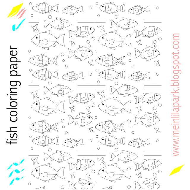 Free printable nautical coloring paper - ausdruckbares Malpapier ...